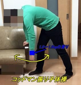肩関節周囲炎のリハビリ,コッドマン体操