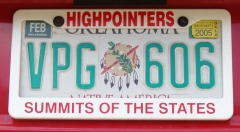 License Plate Frame, white with red lettering