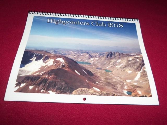 2018 Highpointers Calendar