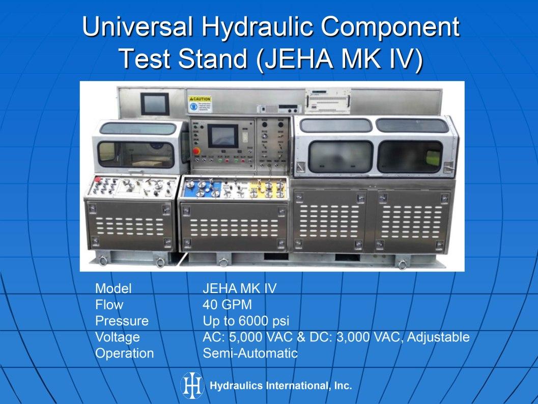 Hydraulic Test Equipment : Hydraulic test equipment bench rig