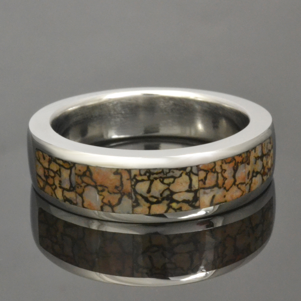 Plush Women Dinosaur Bone Ring Men Tan Dinosaur Bone Ring Cobalt Dinosaur Bone Ring Hileman Jewelry Blog Dinosaur Turquoise Dinosaur Bone Ring wedding rings Dinosaur Bone Ring