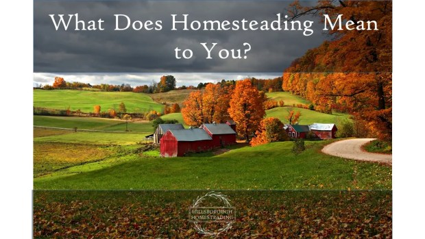 What Does Homesteading Mean to You