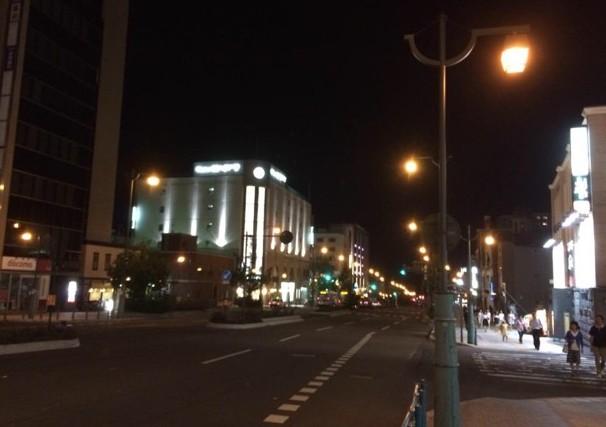 小樽駅前通り 夜