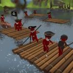 【Stupid Raft Battle Simulator】ポッキーさんも実況!TABSの海賊版!?