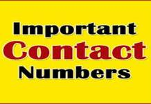 Important contact numbers in Lahaul and Spiti Important contact telephone numbers in Manali