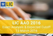 LIC-AAO-Exam-Analysis-2016-13th-March