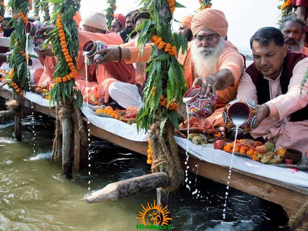 Ganga Puja at Prayag Sangam