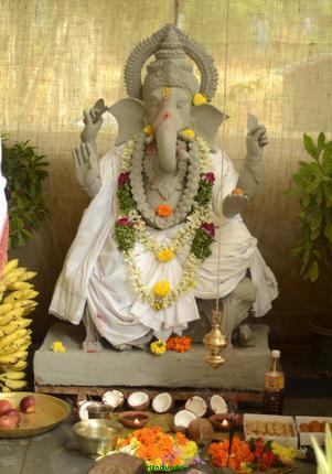 Clay Ganapathi idols by HMDA GHMC in Hyderabad