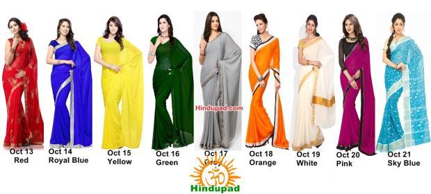 Navratri Colours 2015 list image