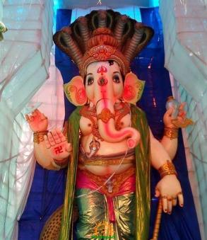 108-feet Ganesh at Vizag MVP Colony 11