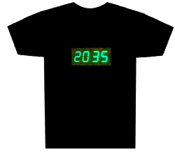 Camiseta con reloj digital