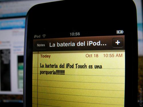 Lo peor del iPod Touch Batería