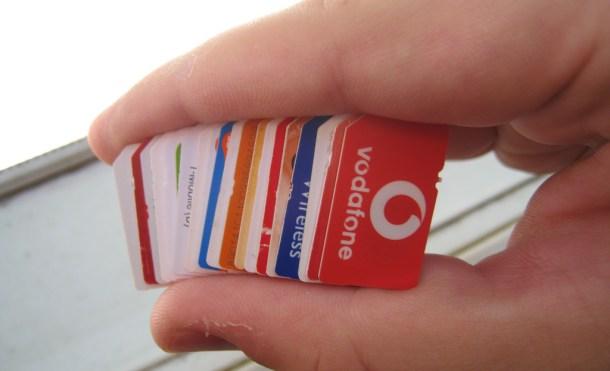 Un montón de tarjetas SIM