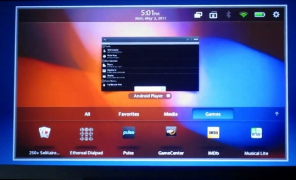 Blackberry Playbook aplicaciones android
