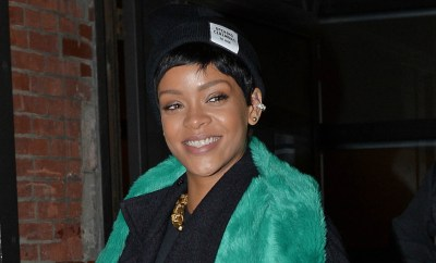 Rihanna seen leaving Milk Studios after doing a photo shoot at Meatpacking District in New York City