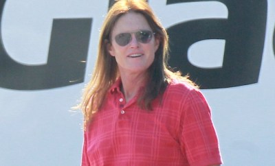 EXCLUSIVE: Bruce Jenner shows off his long hair as he takes his Polaris RZR for a journey to a repair shop in LA