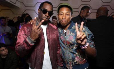 "EXCLUSIVE - Co-Executive Producer Sean Combs and Executive Producer Pharrell Williams seen at Open Road Films Los Angeles Premiere of ""Dope"" in partnership with the LA Film Fest on Monday, June 8, 2015, in Los Angeles. (Photo by Eric Charbonneau/Invision for Open Road Films/AP Images)"