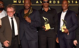 BEVERLY HILLS, CA - JUNE 23:  (L-R) ASCAP President & Chairman Paul Williams with rappers Jarobi White, Q-Tip and Ali Shaheed Muhammad of A Tribe Called Quest, recipients of the ASCAP Golden Note Award, pose at the 2016 ASCAP Rhythm & Soul Awards at the Beverly Wilshire Four Seasons Hotel on June 23, 2016 in Beverly Hills, California.  (Photo by Lester Cohen/Getty Images for ASCAP) *** Local Caption *** Q-Tip;Ali Shaheed Muhammad;Jarobi White;Paul Williams