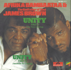 James Brown and Afrika Bambaataa