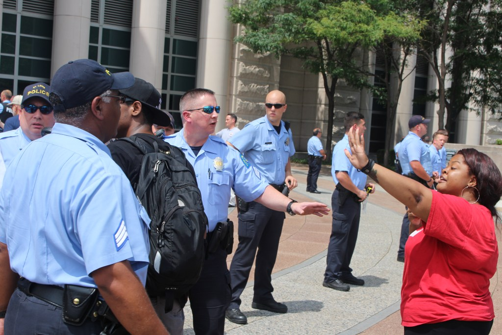 70 Arrested at DOJ in St Louis Seeking Justice for Mike Brown