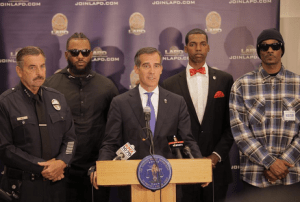 Snoop and Game Meet with LAPD