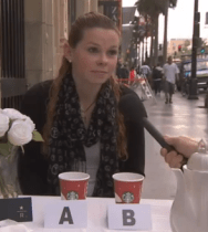 Jimmy Kimmel Starbucks Taste test..