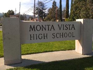 Monta Vista High school sign