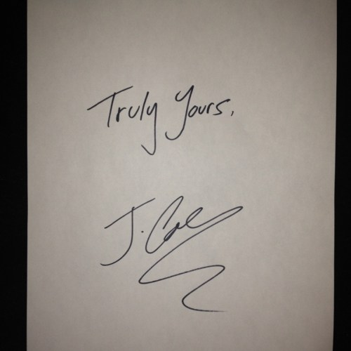 j. cole truly yours