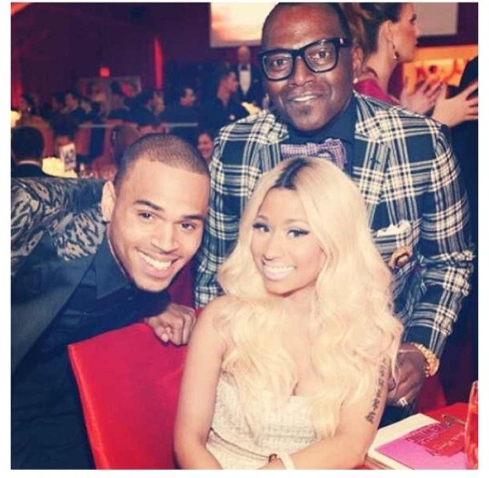 Chris Brown, Nicki Minaj, and Randi Jackson