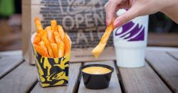 Pleasing 1514994991 Delish Taco Bell Nacho Fries 3 Nacho Fries Box July 2018 Nacho Fries Box Taco Bell Carbs