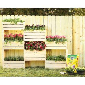Radiant Vertical Planter Diy Home Depot Garden Project Home Depot Vegetable Garden Box