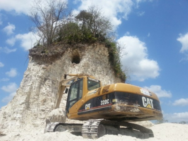 belize temple destroyed