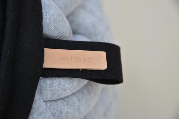 kumeko MINI-KNOTTY FLOOR CUSHION タグ