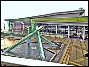 Olympic Cauldron and Jack Poole Plaza