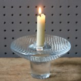 Vintage Holmegaard clear glass candle holder | H is for Home