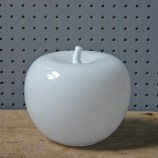 Vintage Livio Seguso white art glass apple | H is for Home