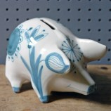 Vintage pottery piggy bank