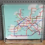 Train route tray