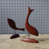 Vintage wooden fish figures | H is for home
