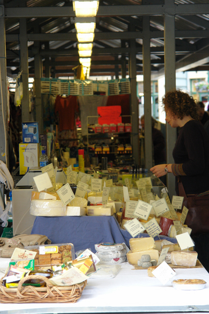 Cheese for sale on Todmorden Flea Market