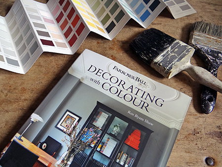Farrow & Ball 'Decorating with Colour' book by Ros Byam Shaw with photography by Jan Baldwin