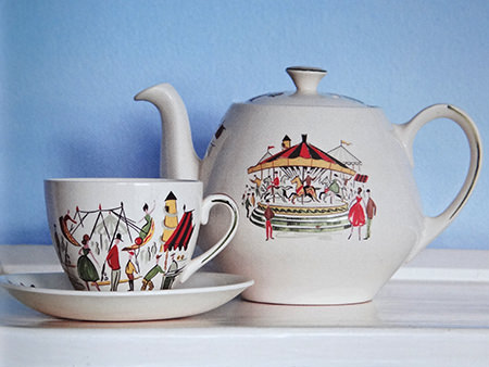 vintage 1950s Alfred Meakin 'Circus' pottery tea set | H is for Home