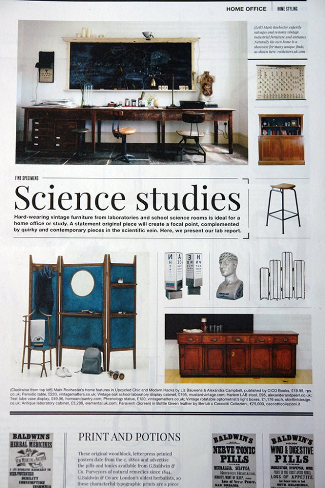 'Science Studies' article in Warehouse Home magazine