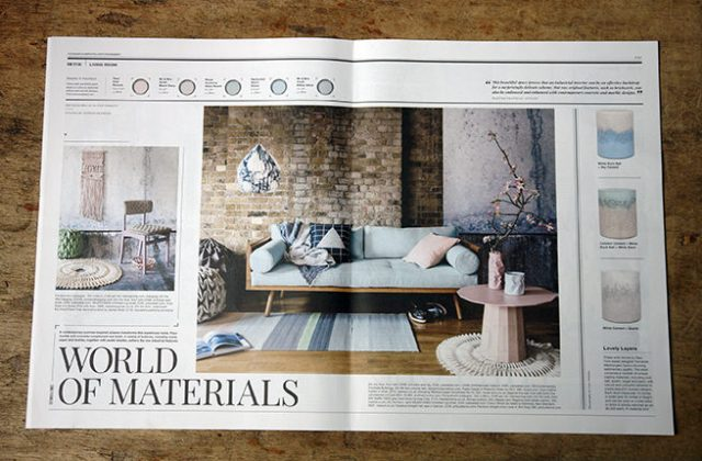 'World of Materials' article in Warehouse Home