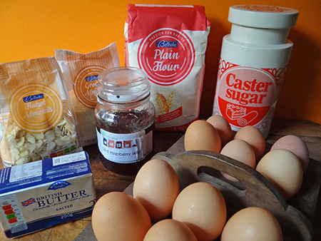 Bakewell tart ingredients