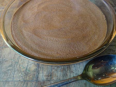 Dark chocolate digestive tart base
