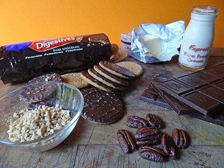 Double choc nut tart ingredients