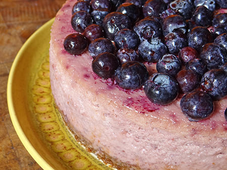 Detail of a home-made lemon & blueberry cheesecake | H is for Home
