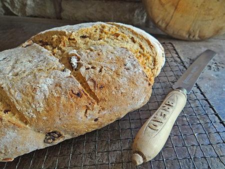 Freshly baked muesli loaf