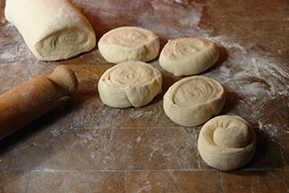 Rolled & sliced panipopo dough | H is for Home